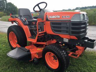 sold ! kubota b1410 compact tractor mower deck