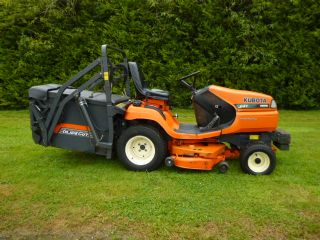 SOLD!!! KUBOTA G21 HIGH TIP MOWER COLLECTOR