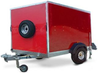 SINGLE AXLE BOX TRAILER 7X5X5