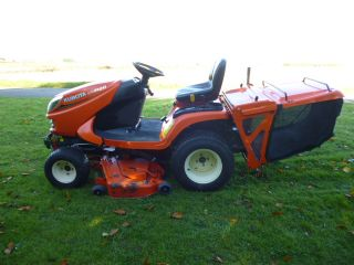 SOLD!!! KUBOTA GR2120 GARDEN DIESEL MOWER LOW DUMP