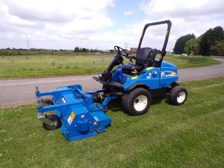 NEW HOLLAND G6035 WITH EX DEMO 5FT OUTFRONT FLAIL