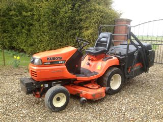 SOLD!!! KUBOTA G21 HIGH TIP RIDE ON MOWER