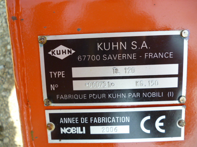 SOLD!!! KUHN TL 120 HAMMER FLAIL MOWER