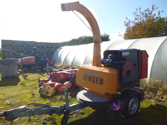 Sold Jensen A530 Wood Chipper Table Towable For Sale
