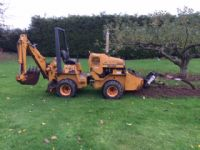 Case trencher with back hoe diesel 4x4