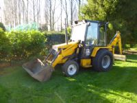 sold ! LEWIS BADGER LOADER BACKHOE COMPACT TRACTOR