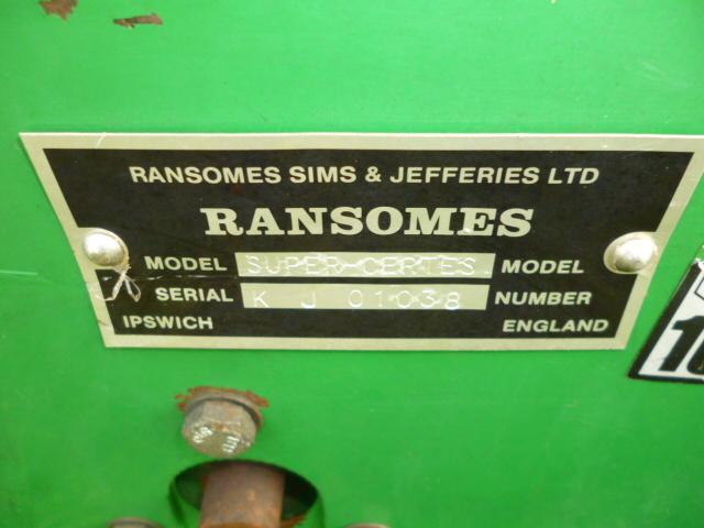 SOLD!!! RANSOMES SUPER CERTES 51 GROOMER 1 BLADE