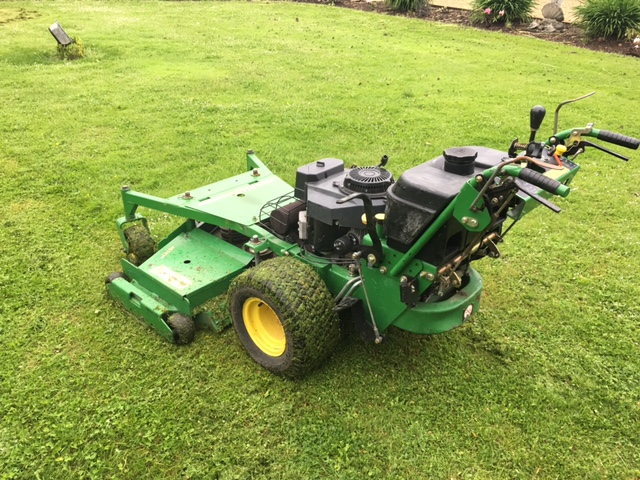 sold ! JOHN DEERE 48RD WALK BEHIND MOWER