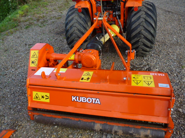 SOLD!!! KUBOTA FLAIL MOWER LIKE NEW LITTLE USES for sale