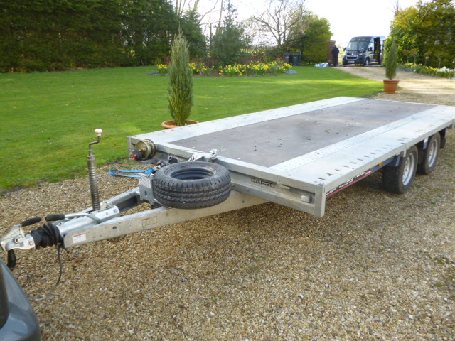 SOLD!!! BRAIN JAMES FLAT BED TRAILER TWIN