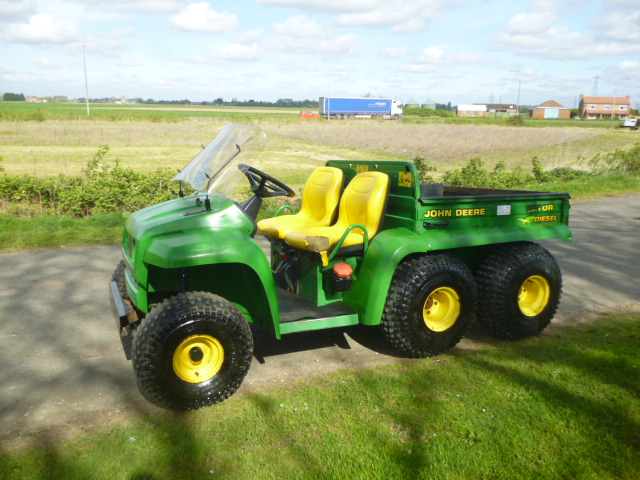 sold john deere gator 6x4 diesel power tip for sale. Black Bedroom Furniture Sets. Home Design Ideas