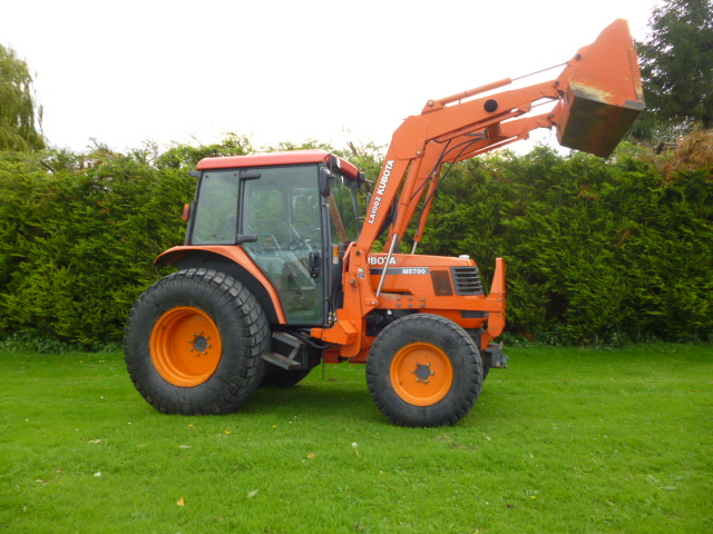 Kubota Tractor Loader Forklift : Sold kubota m tractor front loader for sale fnr