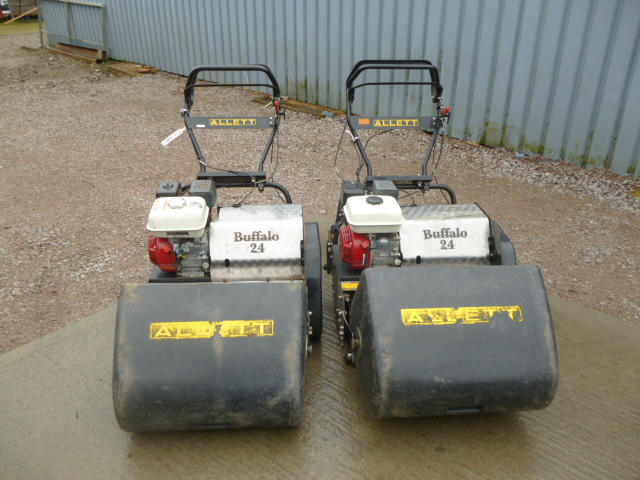 sold ! ALLETT BUFFALO 24 WALK BEHIND MOWER 6 BLADE