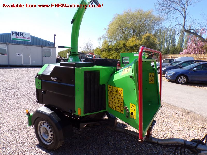 SOLD!!! GREENMECH QUADCHIP 160 SINGLE AXLE CHIPPER