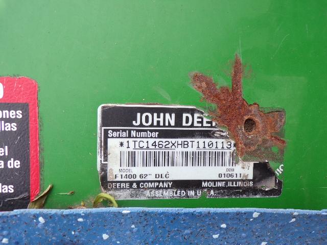 JOHN DEERE 62 OUTFRONT REAR DISCHARGE DECK