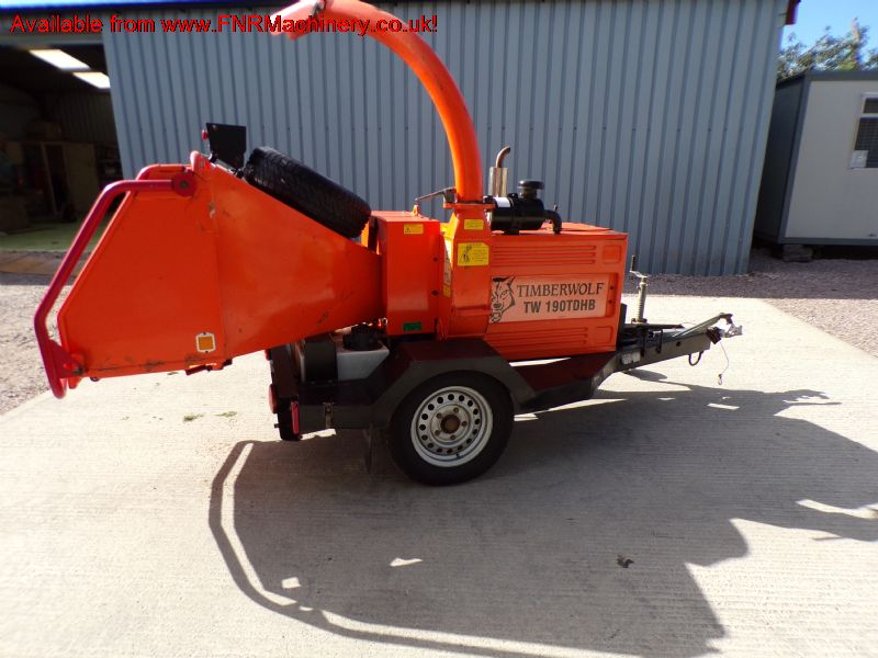 SOLD!!! TIMBERWOLF TW 190TDBH WOOD CHIPPER