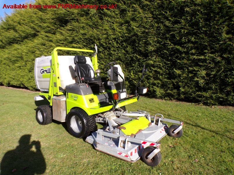 SOLD!!! GRILLO FD1500 PRO OUTFRONT MOWER COLLECTOR