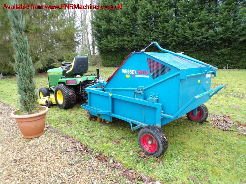 JOHN DEERE 455 with WESSEX SX120 SWEEPER
