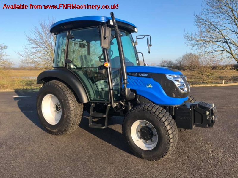SOLIS 50 4WD TRACTOR WITH CAB AND INDUSTRIAL TYRES