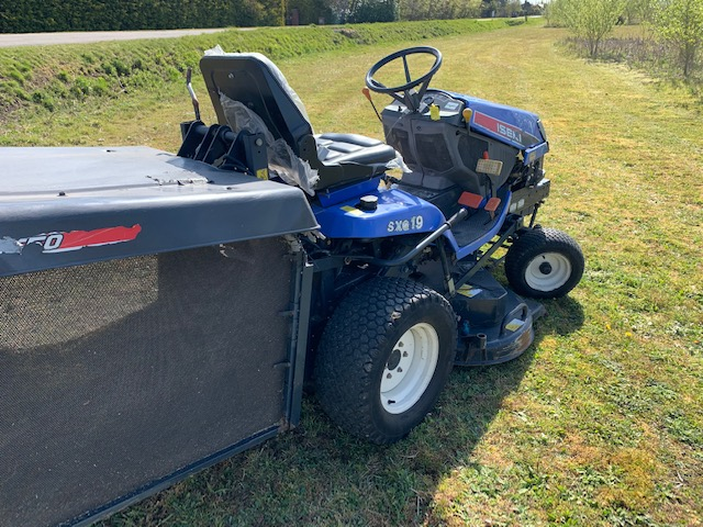 iseki sxg19 ride on mower collector diesel