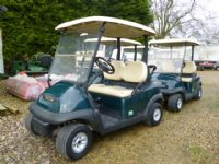 SOLD!!! 8 CLUB CARS PETROL LIKE EZGO SCREEN