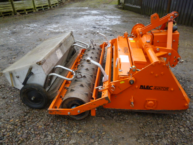 Compact Tractor Seeder : Blec avator bv stone burier groundcare tractor compact