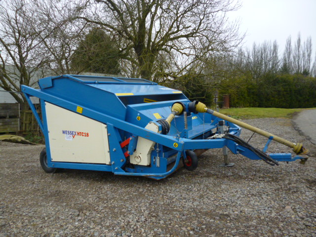 SOLD!!! WESSEX HTC18 FLAIL MOWER AND COLLECTOR
