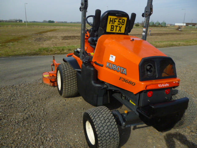 SOLD!!! KUBOTA F3680 OUTFRONT RIDE ON MOWER DIESEL
